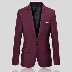 2017 New Men's Casual Slim Fit Formal One Button Suit ...