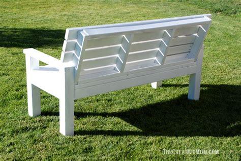 diy sturdy garden bench free building plans the