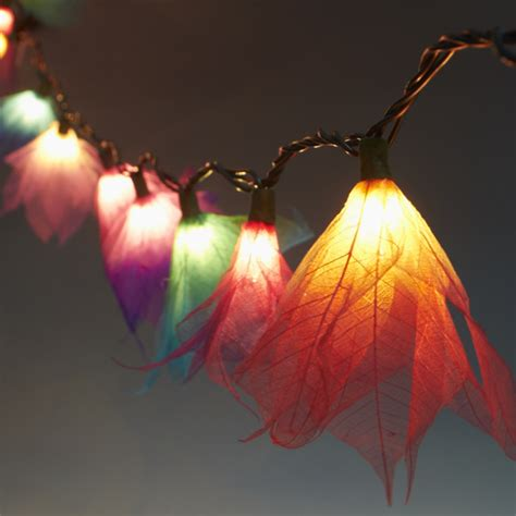9ft tropical flower lights 110v ac string lights multi