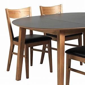 Esstisch Mit 4 Stühlen : runder esstisch mit 4 st hlen eiche schwarz 5 teilig pharao24 skandinavische m bel ~ Frokenaadalensverden.com Haus und Dekorationen