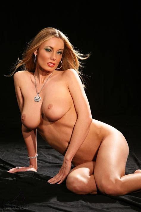 Anita Dark Naked On Her Knees Showing Pink Pussy Of