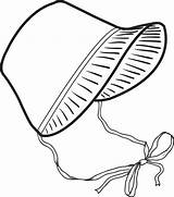 Bonnet Pilgrim Clipart Coloring Hat Pioneer Template Clip Thanksgiving Transparent Printable Pilgrims Drawing Easter Preschool Cliparts Mpmschoolsupplies Pattern Library Google sketch template