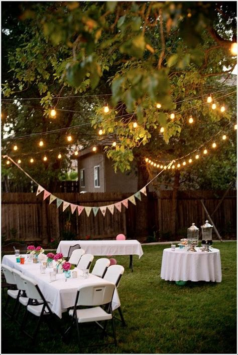 Backyard Party Decoration Ideas For Adults Bbq party