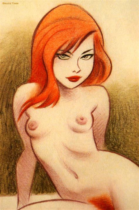 good girl art redhead by bruce timm lustful lad