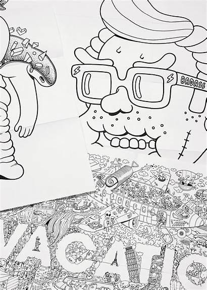 Coloring Brosmind Livro Colorir Books Inspiration Behance