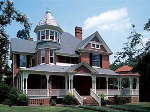 Old victorian homes, brick queen anne victorian house