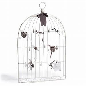 Pele Mele Metal : p le m le en m tal blanc 51 x 80 cm oiseau maisons du monde ~ Teatrodelosmanantiales.com Idées de Décoration