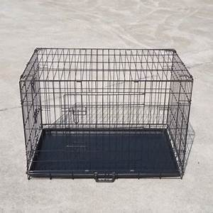 Tinnapet pet dog cage puppy cat collapsible metal crate for Dog cage cost