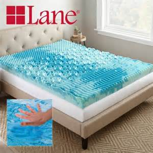 lane 4 quot cooling gellux memory foam mattress topper with