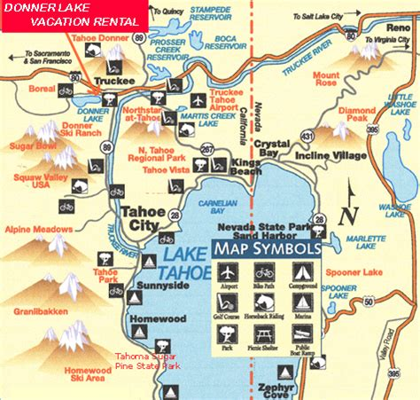 Public Boat R Inks Lake by Location And Recreation Maps For Donner Lake Cabin House