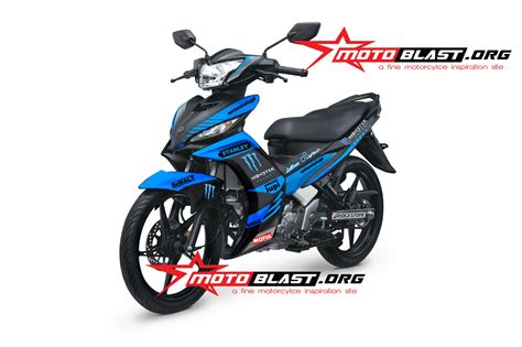 modif striping new jupiter mx black blue motoblast