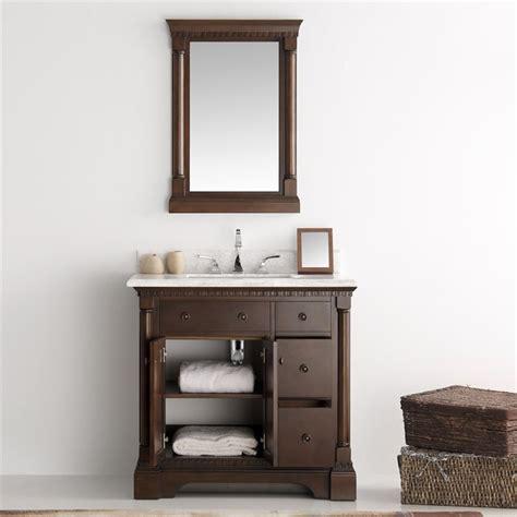 fresca kingston 36 quot antique coffee traditional bathroom