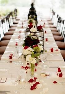 Decoration De Table De Mariage : deco de table mariage rouge et blanc le mariage ~ Melissatoandfro.com Idées de Décoration
