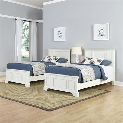 home styles naples  twin beds  night stand
