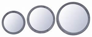Holz Spiegel Rund : spiegel 3er set rund holz grau gewischt betonoptik wandspiegel deko levandeo ~ Frokenaadalensverden.com Haus und Dekorationen