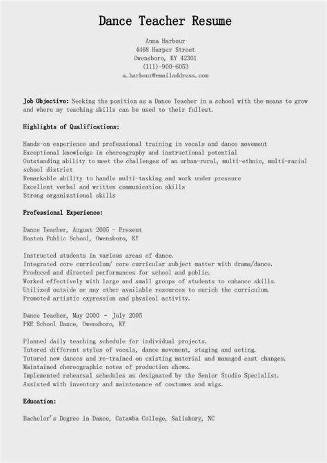 17865 dancer resume template new dancer resume template free dancer resume exle