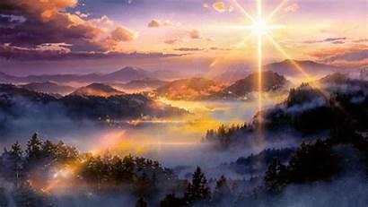 Anime Landscape Sunset Kimi Wa Japan Scenery