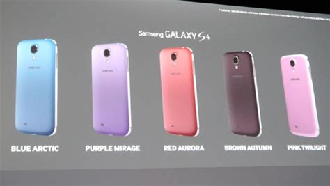 samsung galaxy s4 colors five new samsung galaxy s4 colours confirmed for launch