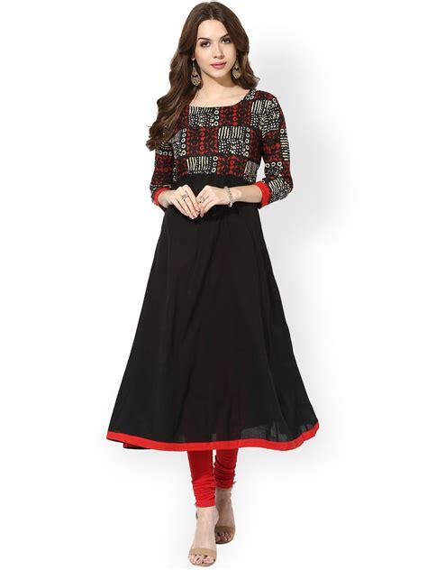 Black Indian Pakistani Anarkali Kurta Kurti Party Designer Dress Women Tunic   eBay