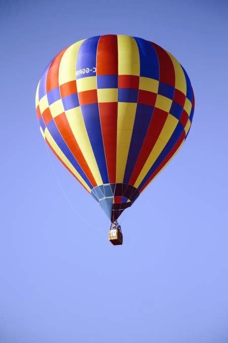 picture hot air balloon basket sky flying object