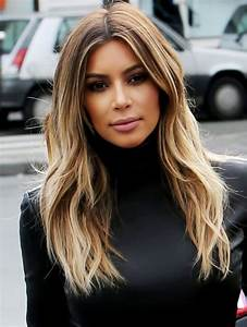 Kim Kardashian Blonde Ombre Hair Color 2015 - Celebrity ...