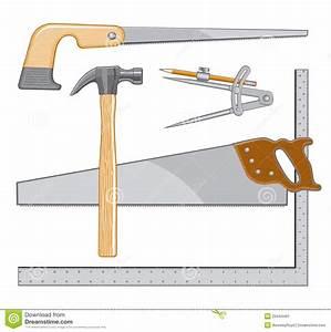 Carpenter Tools Logo Stock Image - Image: 20444491