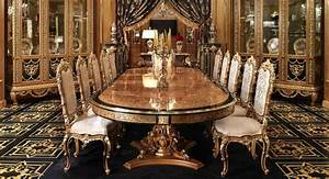 Luxury dining room furniture sets home furniture design for Luxurious dining room sets