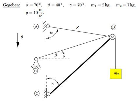statik berechnen mechanik statik wie seilkraft berechnen schule technik technologie