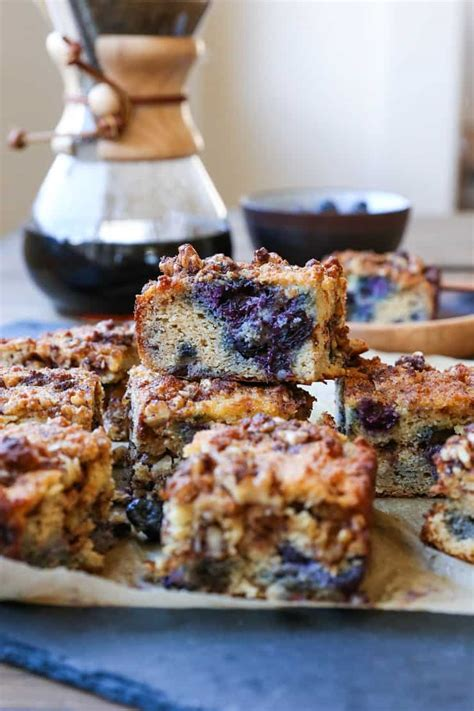 A soft homemade coffee cake filled with blueberries, blackberries, and raspberries and a buttery streusel is a very good idea. Paleo Blueberry Coffee Cake - The Roasted Root