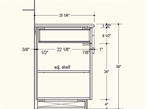Standard Kitchen Cabinet Depth by Standard Kitchen Cabinet Dimensions House Furniture