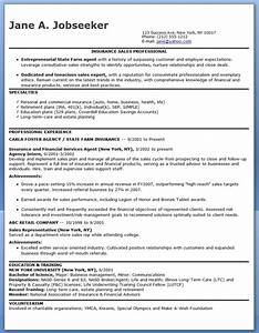 insurance sales representative resume sample resume With sales representative resume templates free