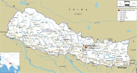 nepal map travelquazcom