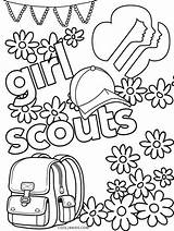 Scout Coloring Junior Printable sketch template