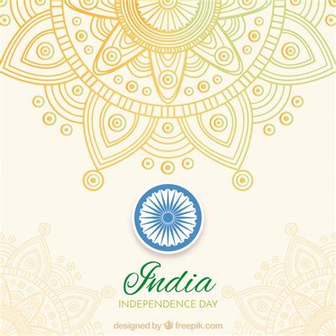Indian Background India Independence Background With Mandala Vector Free