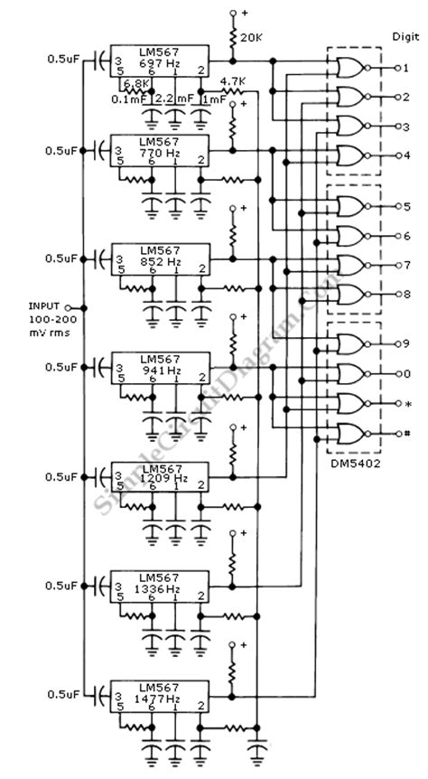 Touch Tone Decoder Simple Circuit Diagram