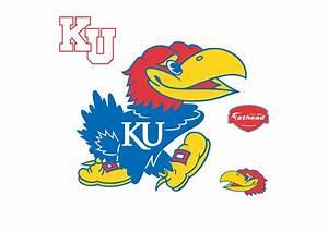 Kansas Jayhawks Logo Wall Decal   Shop Fathead® for Kansas ...