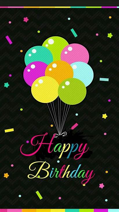 Birthday Happy Balloons Colorful Backgrounds Wallpapers Iphone