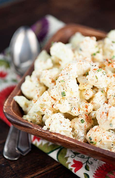 cauliflower potato salad favehealthyrecipescom