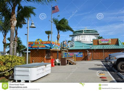 Grills Seafood Deck Tiki Bar Port Canaveral by Grills Seafood Deck Tiki Bar At Port Canaveral Editorial