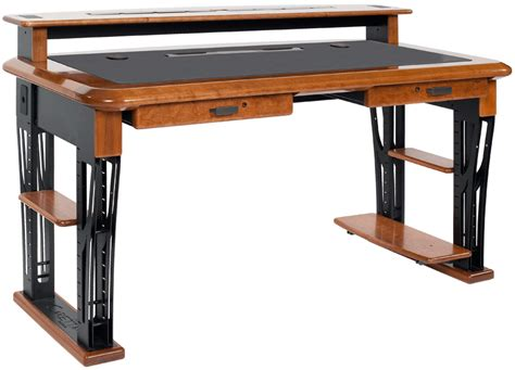 desk with monitor shelf premium wood desktop riser shelf full caretta workspace
