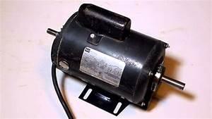 Craftsman 1 H P  115v Capacitor Start Motor 113 12201 After Bearing Change