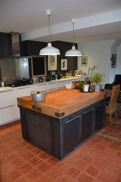 construire un ilot central cuisine meuble central cuisine pas cher fabriquer un ilot