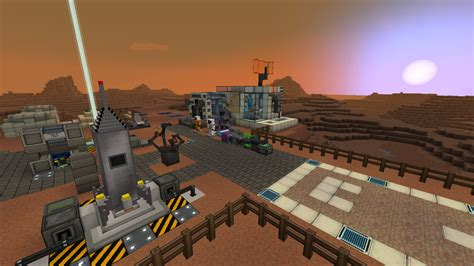 A base on Mars for Galacticraft Minecraft Project
