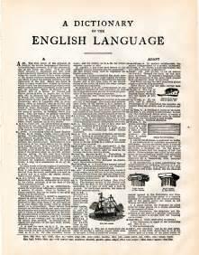 Vintage Dictionary Page Clip Art