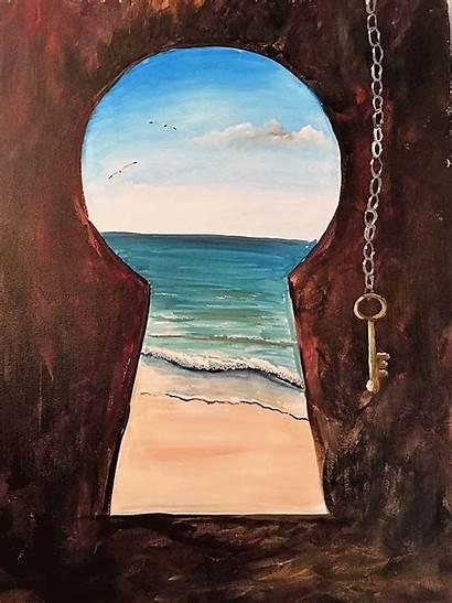 Painting Key Canvas Paintings Acrylic Beginners Easy