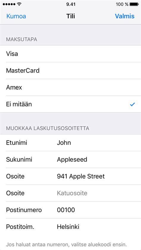 app store ei toimi iphone