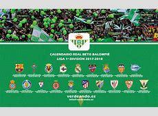 Descárgate el Calendario Betis de la Liga Temporada 20172018