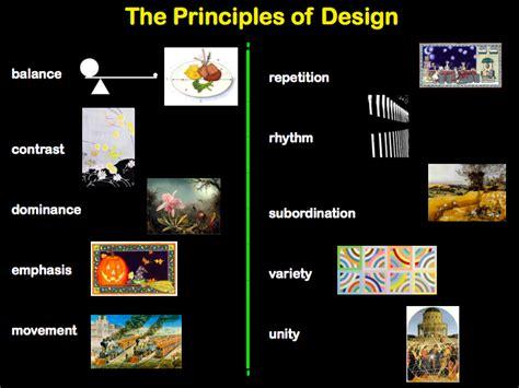 principles of design visual arts elements of and principles of design