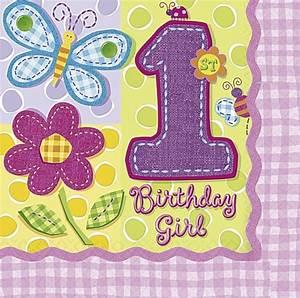 Servietten 1 Geburtstag : kindergeburtstag servietten hugs and stitches girl zum 1 geburtstag geburtstagsservietten 1 ~ Udekor.club Haus und Dekorationen