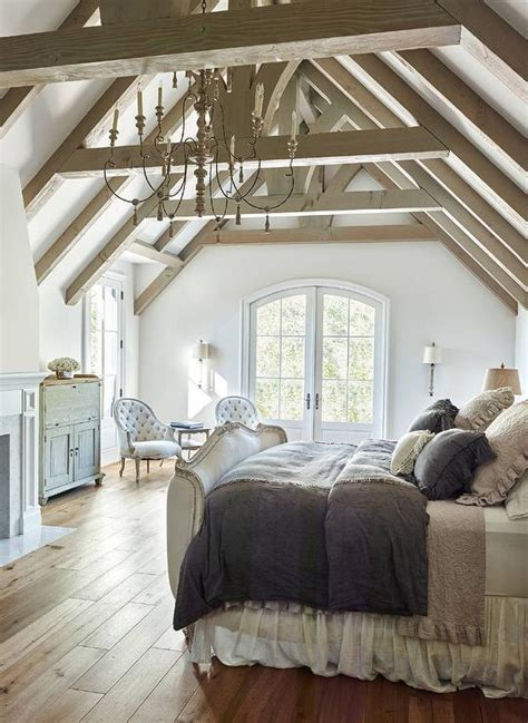 French Bedroom with Truss Ceiling  French Bedroom